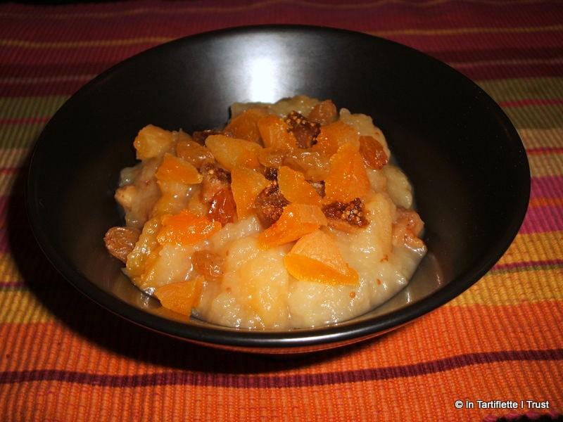 compote pomme fruits secs