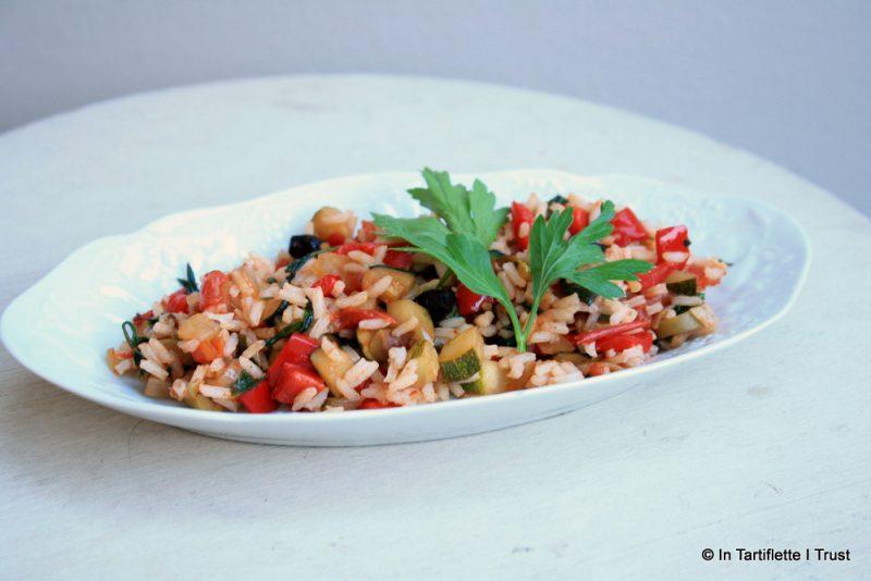 riz aux légumes & olives