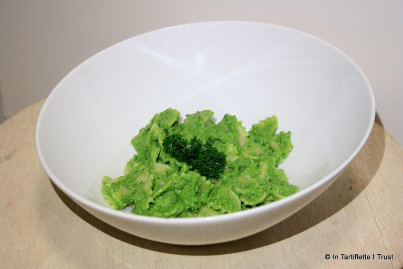 Pâtes au pesto de chou kale & chèvre
