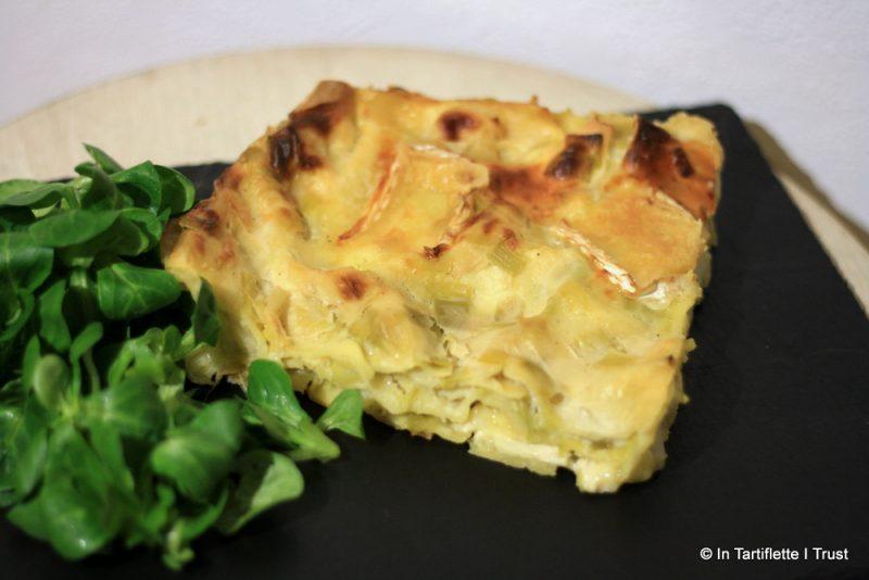 Lasagnes de poireaux au camembert
