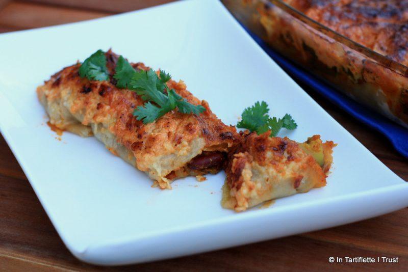 Enchiladas haricots rouges courgettes