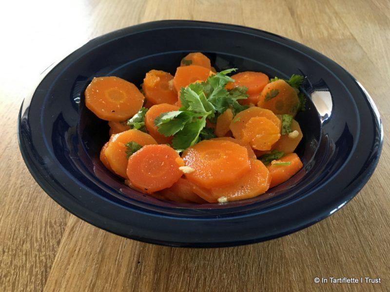 Salade carottes coriandre, cumin, fleur d'oranger