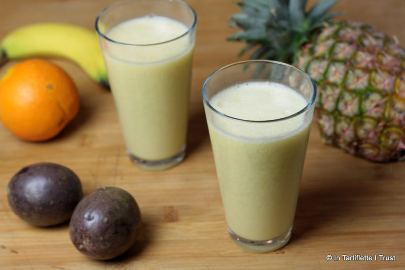 smoothie ananas passion lait de coco