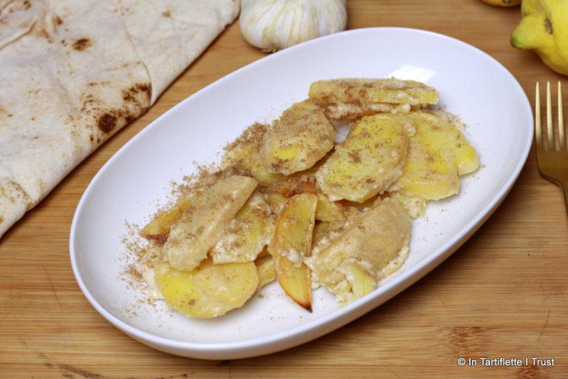 Pommes de terre à la sauce yaourt sésame et citron