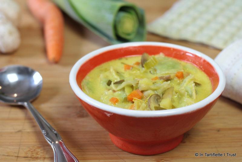 soupe ravioles légumes