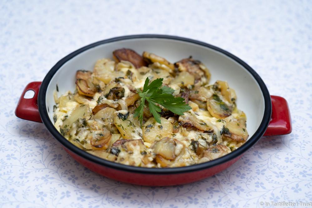 truffade de pommes de terre au cantal