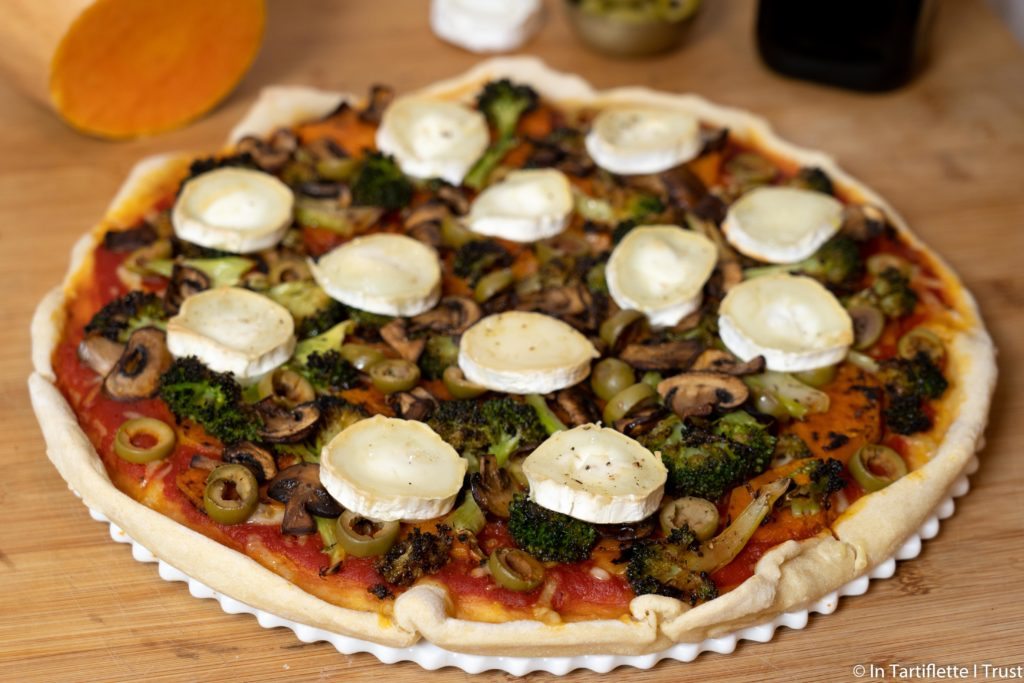 pizza legumes chevre