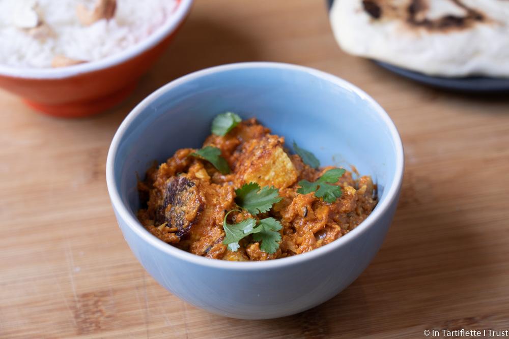 Curry indien au fromage et à la sauce cajou tomates et épices - Shahi paneer