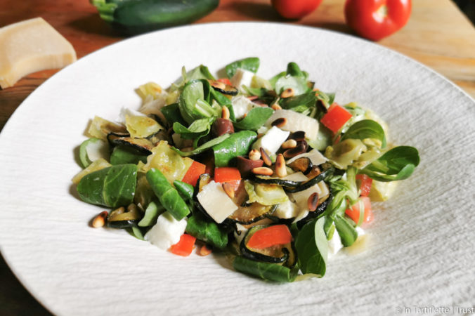 salade mache mozzarella ravioles