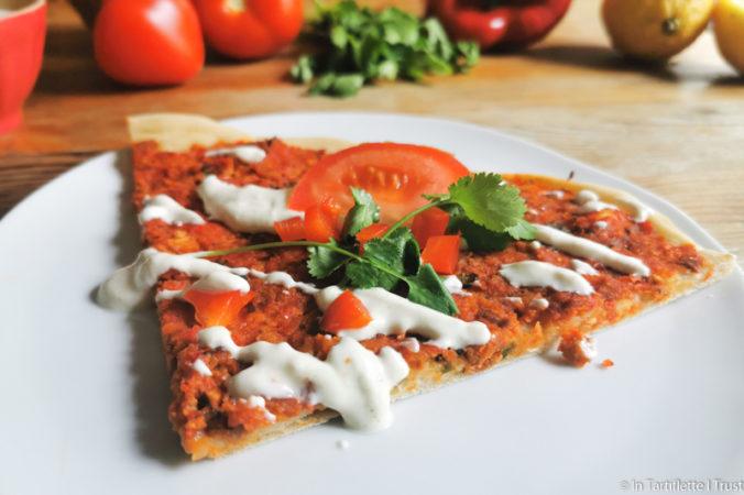 pizza orientale végétarienne