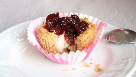 Cheesecake aux cerises griottes